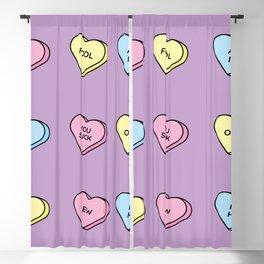 Sugarhearts Blackout Curtain