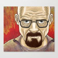 walter white Canvas Prints featuring Walter White  by gunberk