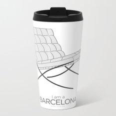 Chairs - A tribute to seats: I'm a Barcelona (poster) Metal Travel Mug