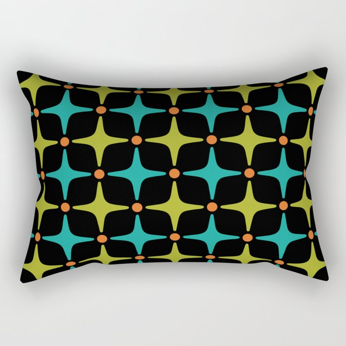 Mid Century Modern Star Pattern 926 Rectangular Pillow