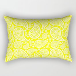 Paisley (White & Yellow Pattern) Rectangular Pillow