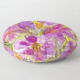 Watercolor Wildflowers Floor Pillow