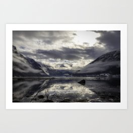 Fjaerlandsfjorden Art Print