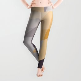 Purple and Gold (XI) Abstract Leggings