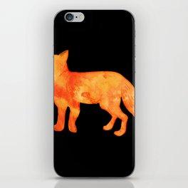 Fox in the dark iPhone Skin