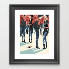 Hipster Party Framed Art Print