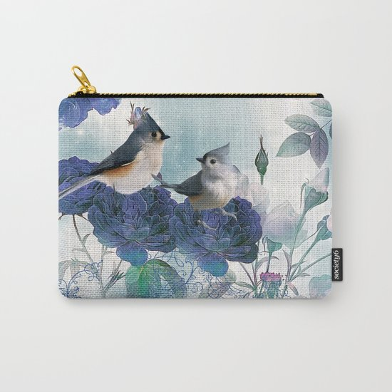 Cute birds with flowers Carry-All Pouch