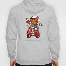 Italy! Pinocchio Eat Pizza and Ride Vespa Hoody