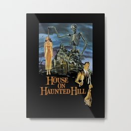 House On Haunted Hill, 1959 Campy Horror Movie Metal Print