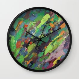 Spring Breeze and Green Wall Clock