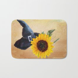 Sunny Witches Hat Bath Mat
