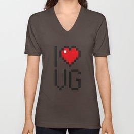 PAUSE – I Love Video Games Unisex V-Neck