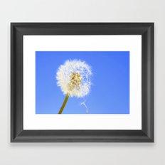 Wishing Flower Framed Art Print