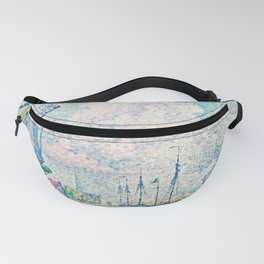 """Paul Signac """"Canal of Overschie"""" Fanny Pack"""