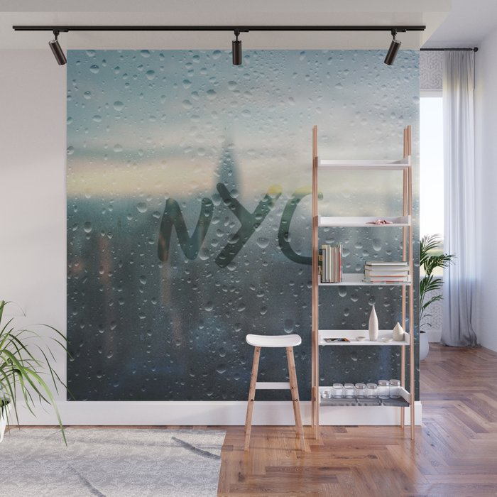 Rainy Day in NYC Wall Mural by stine1 Society6