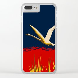 Ambition or trumpeter swan Clear iPhone Case