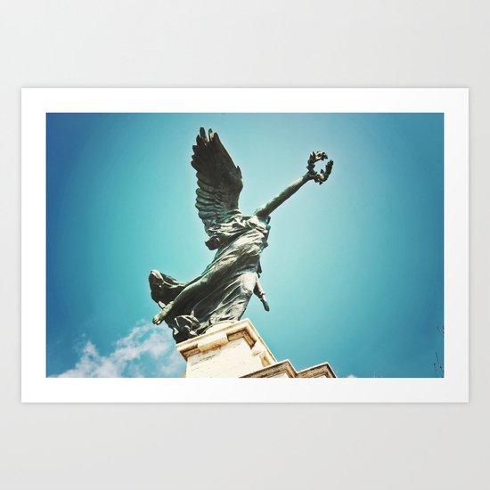Statue in Rome Art Print
