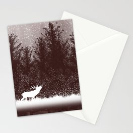 The rut - deer mating season Stationery Cards