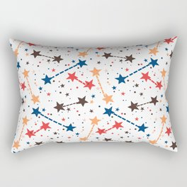 Night sky with constellations and twinkle lights Rectangular Pillow