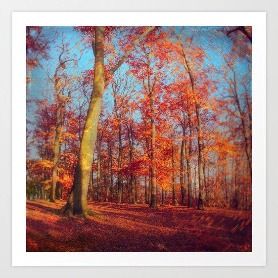 scarlet forest Art Print