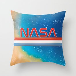 Nasa Nebula Throw Pillow
