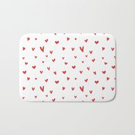 I Love Being Yours - Red Heart Doodle Pattern Bath Mat