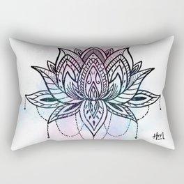Watercolor Lotus Rectangular Pillow
