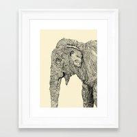 elephant Framed Art Prints featuring Elephant by Struan Teague