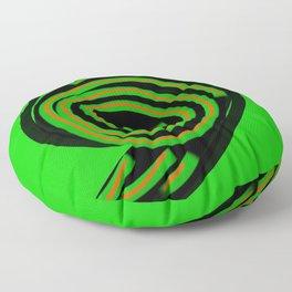 SPIN OUT SIXTY NINE green black orange  six nine disc turntable vinyl 69 Angelis Floor Pillow