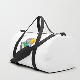 Funny bird illustration for children, colourfull sketch, painting Duffle Bag