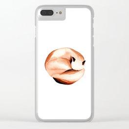 Sleepy fox Clear iPhone Case