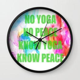 Peace Yoga Wall Clock