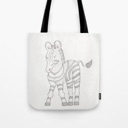 Waterolor Zebra Tote Bag