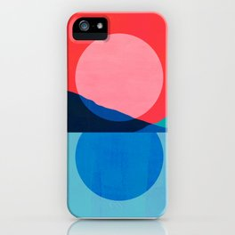 Abstraction_Mountains_SUNSET_Reflection iPhone Case