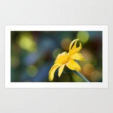 yellow flower II Art Print