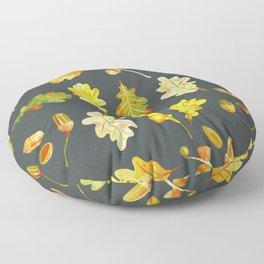 Oak Leaves and Acorns Floor Pillow