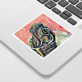 Abstract turtle painting Sticker