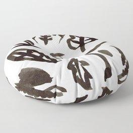 Black Leaves Floor Pillow