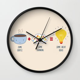 Some Coffee + Some Thinking = Some Great Ideas Wall Clock