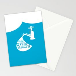 WATER CONSERVATION Stationery Cards