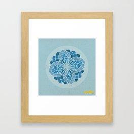 Throat Chakra Mandala Framed Art Print