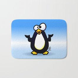 Pondering Penguin Bath Mat