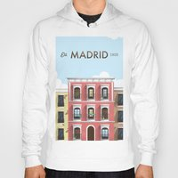 madrid Hoodies featuring Madrid by Sara Enriquez