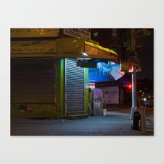 CHINATOWN NYC AT NIGHT. Canvas Print