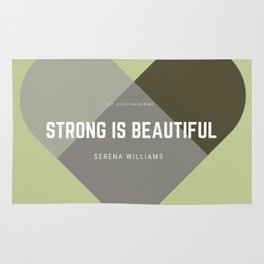 Strong Is Beautiful - Serena Williams Rug
