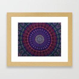 Blue Mandala Hippie Design Framed Art Print