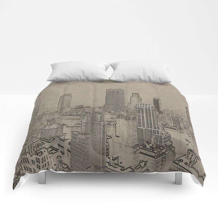 Old Cityscape Comforters