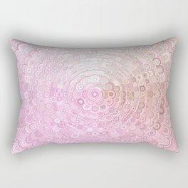 Pink and White Flower Mandala Rectangular Pillow