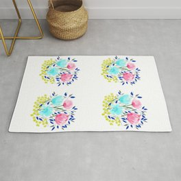 Spring Roses Bouquet Rug