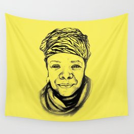 Maya Angelou - (yellow) Sketch to Digital Wall Tapestry